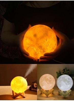 Luminária Umidificador Lua Cheia 3d