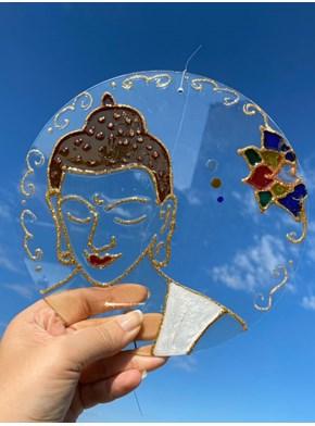 Mandala Vitral Buda Lótus 2