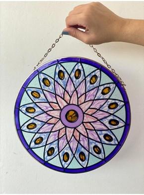 Mandala Vitral Correntes - Espiritualidade