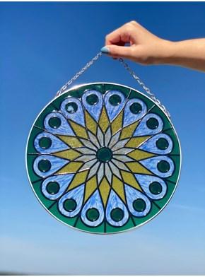 Mandala Vitral Correntes - Flor do Sol