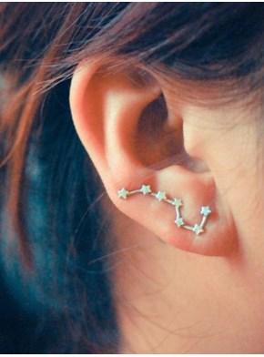 Par de Brincos Ear cuff - Constelação