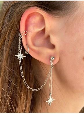 Par de Brincos Ear cuff - Estrela Guia