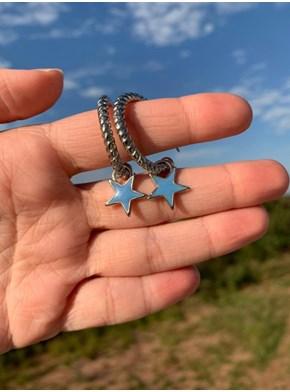 Par de Brincos - Estrela Azul