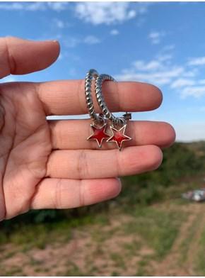 Par de Brincos - Estrela Vermelha