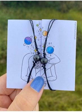 Par de Pulseiras Conexão - hematita (magnetica)
