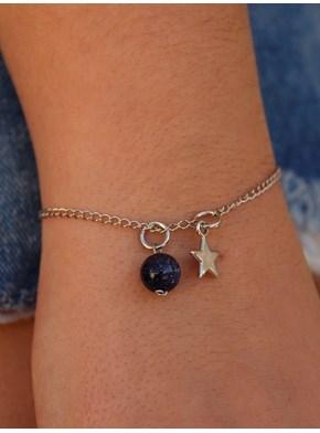 Pulseira Estrela com Pedrinha da Estrela