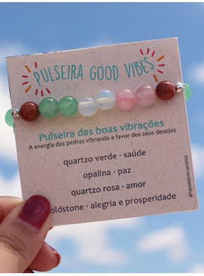 Pulseira Good Vibes