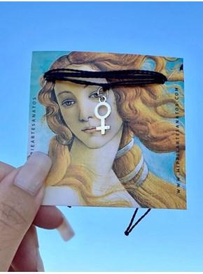 Pulseira / Tornozeleira Espelho de Vênus - Preta