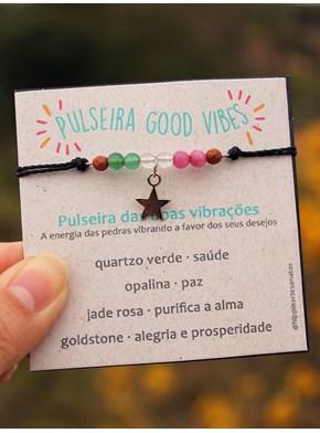 Pulseira / Tornozeleira Good Vibes - Estrelinha
