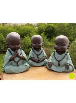Trio de Budas Meditação - Verde