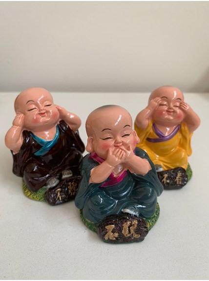Trio de Budas Porcelana